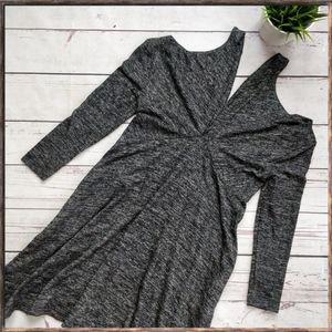 ANTHROPOLOGIE Maeve Cold Shoulder LS Dress, sz XSP